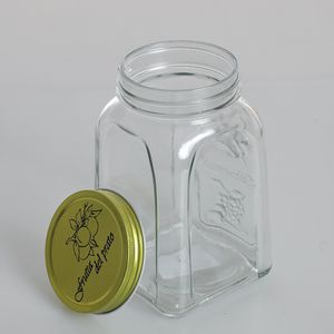Borcan de sticla cu capac metalic 700ml