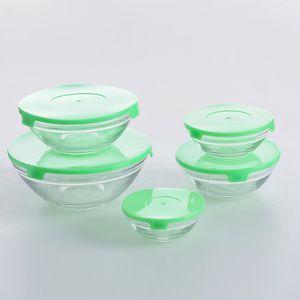 Set 5 boluri cu capac verde