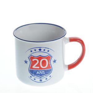 Cana alba din ceramica 20 de ani