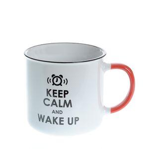 Cana ceramica Keep calm and wake up