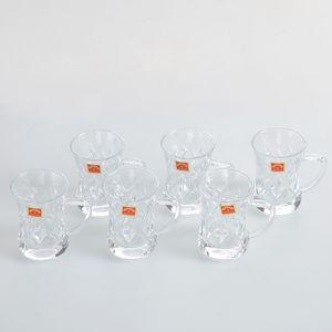 Set 6 cesti de ceai din sticla 145ml