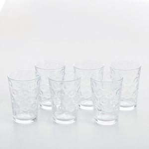 Set 6 pahare din sticla cu buline