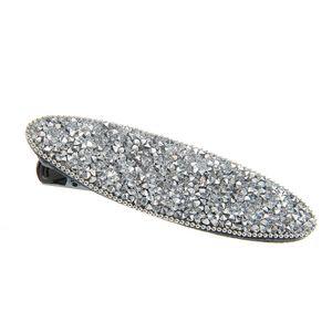 Agrafa argintie cu pietre acrilice