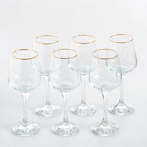 Set 6 pahare cu picior  pentru vin  330ml