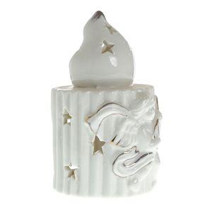 Suport aromaterapie alb din ceramica