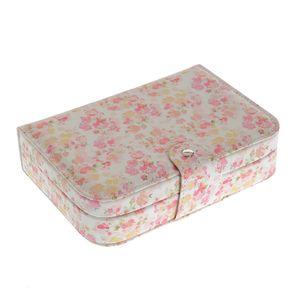 Cutie de bijuterii roz cu design floral