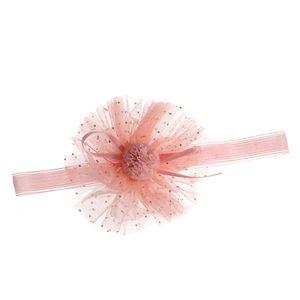 Bentita elastica cu pompon pentru copii