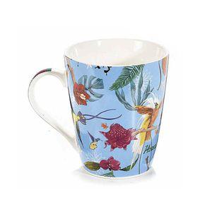 Cana albastra cu print exotic 450 ml