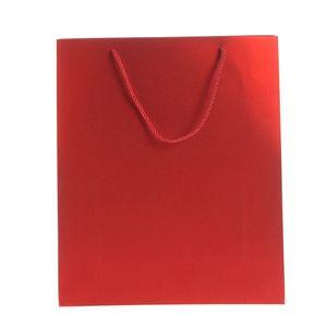 Punga rosie de cadou cu sclipici L