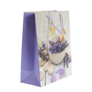 Punga de cadou cu design lavanda M