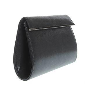 Plic negru cu inchidere magnetica si bareta din lant
