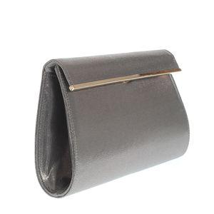 Plic argintiu cu inchidere magnetica si bareta din lant