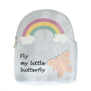 Rucsac argintiu Fly my little butterfly