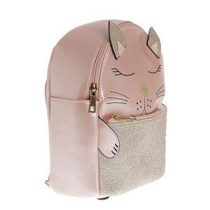 Rucsac roz design pisica