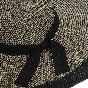 Palarie de vara cu panglica si contur negru