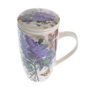 Cana cu infuzor si flori de liliac 400 ml