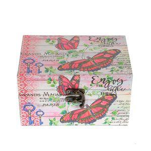 Cutie roz cu fluturi 16 x 11.5 x 9cm