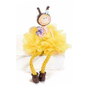 Agatoare albina cu buchet mov 23 cm