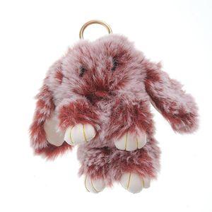 Bijuterie geanta iepure grena 17cm
