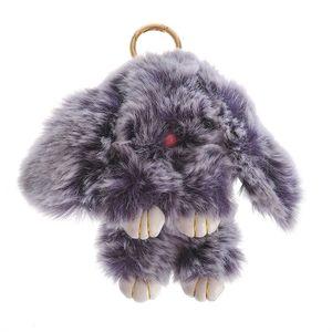 Bijuterie de geanta iepure gri 17 cm
