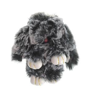 Bijuterie geanta iepure pufos 17 cm