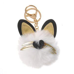 Bijuterie geanta cap pisica alb 11 cm