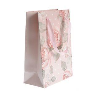 Punga de hartie roz pentru cadou  25x18cm
