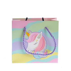 Punga mica cadou cu unicorn 14x15cm