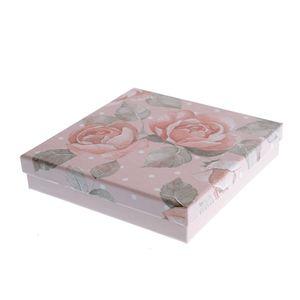 Cutie cadou print trandafiri  16cm