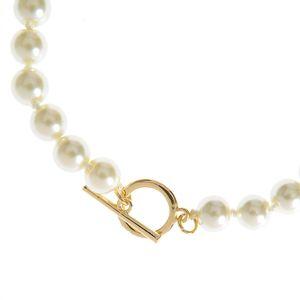 Colier la baza gatului cu perle albe