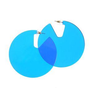 Cercei supradimensionati albastri