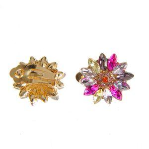 Cercei cu clips design floare multicolora