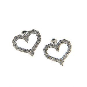 Cercei argintii in forma de inima