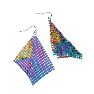 Cercei multicolori cu plasa maleabila
