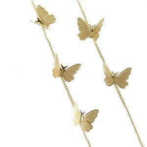 Cercei lungi cu fluturi