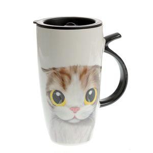 Cana cu pisica si capac de silicon 250 ml