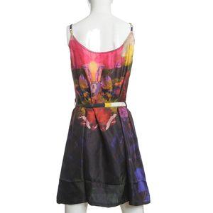 Rochie multicolora din matase