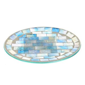 Savoniera mozaic verde cu mov 15x12 cm