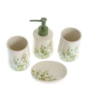 Set de baie din ceramica cu print floral