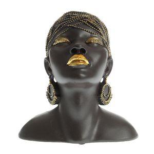 Statue bust negru feminin 22 cm