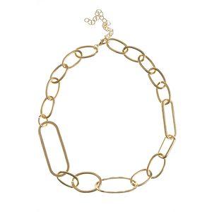 Colier auriu cu forme ovale