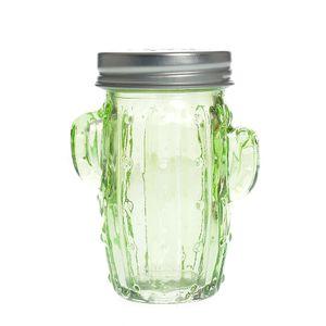 Solnita din sticla in forma de cactus