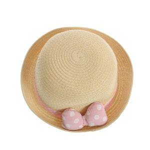 Palarie panglica roz cu buline
