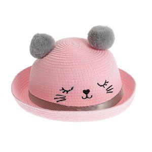 Palarie roz cu urechi de pisica