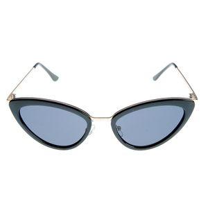 Ochelari de soare cat-eye cu brate metalice
