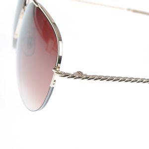 Ochelari de soare aviator cu rama aurie