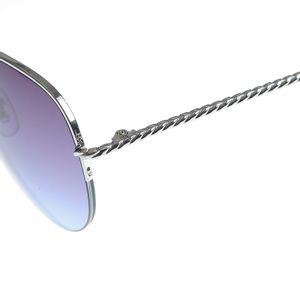 Ochelari de soare aviator cu rama argintie