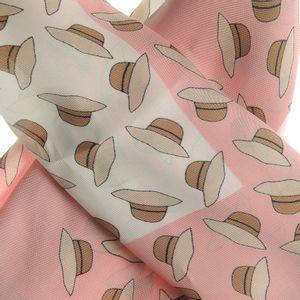Esarfa in doua nuante roz cu alb