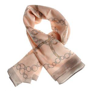 Esarfa roz cu design lanturi