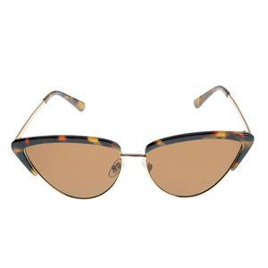 Ochelari de soare cat-eye cu model animal print UV400